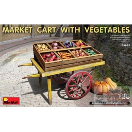 MARKET CART WITH VEGETABLES...