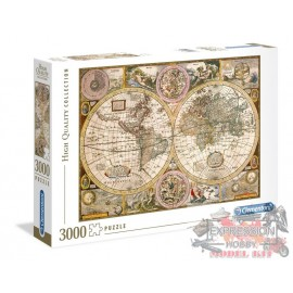 PUZZLE -  OLD MAP - VIEILLE...