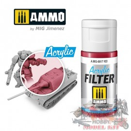 ACRYLIC FILTER Red A.MIG-0817