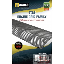 T34 ENGINE GRID FAMILY 1/35...