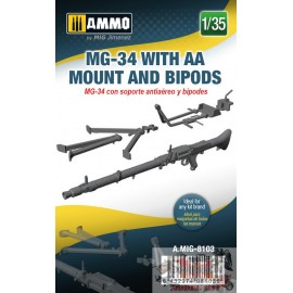 MG-34 WITH AA MOUNT AND...