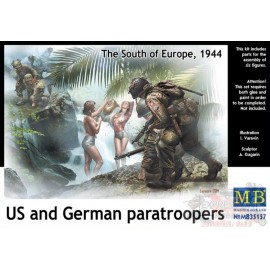 US AND GERMAN PARATROOPERS...