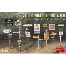 ALLIED ROAD SIGNS WWII....